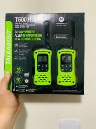 Título do anúncio: Rádio Comunicador Talkabout Motorola T600br 35km Preto/verde