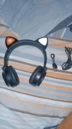 Fone de gatinho via bluetooth