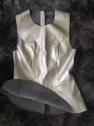 Blusa feminina P prateada
