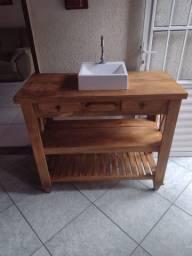 Gabinete rústico pra banheiro
