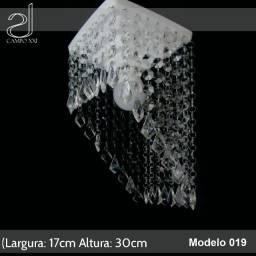 Lustre Pendente Cristal Acrílico Quadrado Lindo 17x30cm Campo Xxi