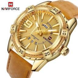 Relógio Naviforce Golden Luxo