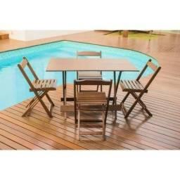 Mesa Para Bar e Restaurante com 4 Cadeiras - Dobrável - 1,20 x 0 e07e6da1dc