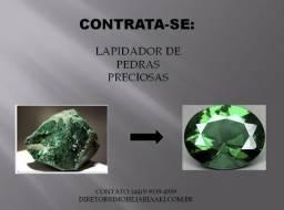 Contrata-se Lapidador de Pedra Preciosa