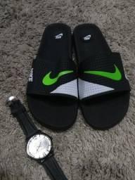 Sandália e Relógio