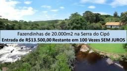 Serra do CIPÓ | Fazendinhas de 20.000m2 | Portaria 24hs | Oportunidade | AGT