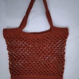 Ecobags e bolsas de praia em crochê