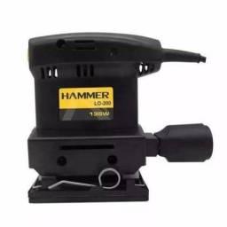 Lixadeira Orbital Hammer 135W 1/4 de Lixa 12000rpm LO200 - Hammer