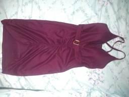 Vestido tecido canelado