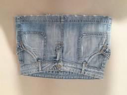 Mini saia jeans Brix