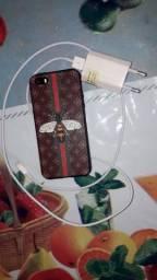 Carregador + capa pra IPhone 5S