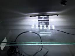 Aquário com bomba e luminária