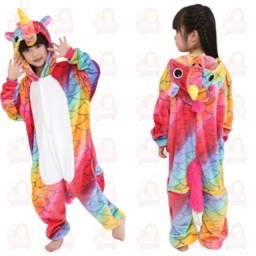 Título do anúncio: Pijama Unicornio fundo branco infantil- vários tamanhos