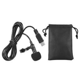 Microfone de Lapela estéreo omni-direcional, mini usb 150cm, para gopro hero 3 + 4