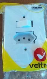 tomada e interruptor 10a - Veltra