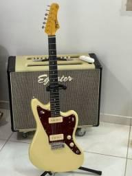 Guitarra Jazzmaster Tagima Tw61 Vintage White Regulada e blindada