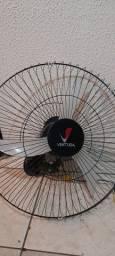 Ventilador Parede Oscilante Ventura 60Cm Preto Bivolt<br><br>