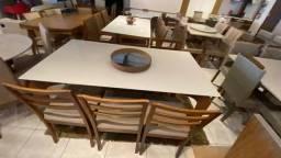 Mesa ametista retangular de jantar pintura laka e madeira