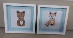 Quadrinhos para decoração de quarto infantil