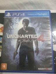 Título do anúncio: Jogo de PS4 uncharterd 4
