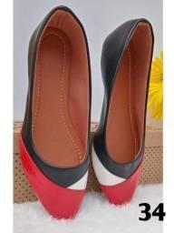 Sapatilhas bico fino qualidade Premium