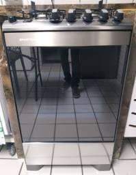 Fogão Brastemp Inox 4 bocas com grill