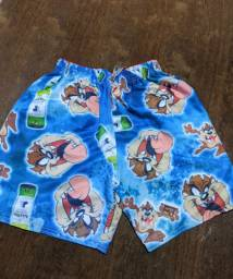 Promoção de shorts mauricinho moda praia estampado tectel com elastano