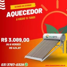 Aquecedor solar 15 tubos São Paulo R$3089,00