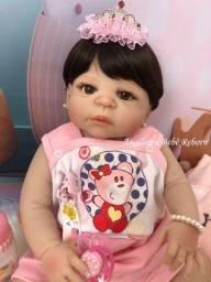 Título do anúncio: Boneca bebê reborn toda de Silicone Pronto Envio! Com Enxoval