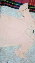 Blusa rosa  nova