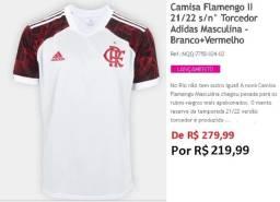 Camisa CR Flamengo 2 - 21/22 Torcedor s/n Branca+Vermelha 180,00