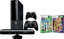 Xbox 360 + kinect + 2 controles + bateria controle