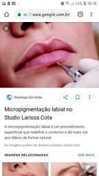 Profissional em micropigmentação labial e sobrancelhas