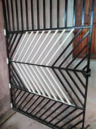 Portão de metalon