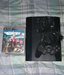 PS3 bem conservado vai tbm 5 jogos