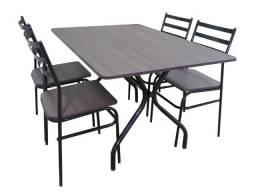 Mesa com 6 lugares perfeita para buffets, lanchonetes, sorveterias e refeitórios