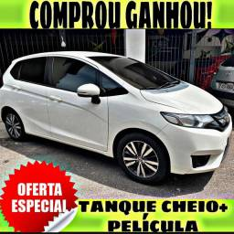 TANQUE CHEIO SO NA EMPORIUM CAR!!!! HONDA FIT 1.5 EXL AUT ANO 2015 COM MIL DE ENTRADA