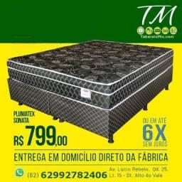 Ultra promoção! Cama Casal C/ Colchão Plumatex Medida Queen