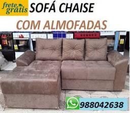 Preço Bom Demais!!Sofa Chaise Com Almofadas Apenas 699,00+(Frete Gratis)