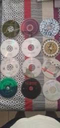 12 CDs de rock originais sem capa