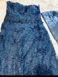 Vestido Azul marinho Novíssimo G/GGVeste super bem