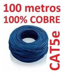 Cabo de rede puro cobre cat 5 rolo com 305 metros branco