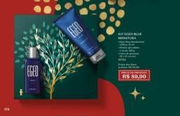Kit o boticario masculino egeo blue , perfume 50ml e desodorante , otimospresente