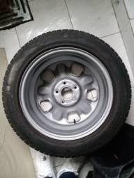Jogo de Rodas Duster aro 16 5x114+ pneus meia vida