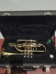 Trompete Weril cornet Bb seminovo