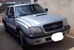 S10, Cabine dupla, diesel, prata, Completa, ano 2005/2006