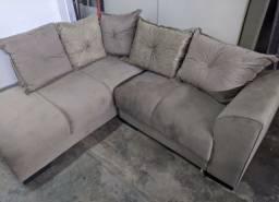 sofá de canto em várias cores (entrego grátis)
