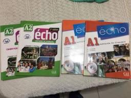 Livros Francês Echo A1 e A2 pouco usados