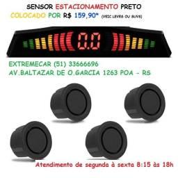 Sensor de estacionamento preto colocado a partir 159,90*