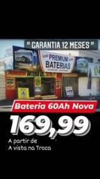 A Bateria Nova 60Ah com 1 Ano Garantia MAIS BARATA de Anápolis Baterias